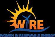Logo, Women in Renewable Energy.